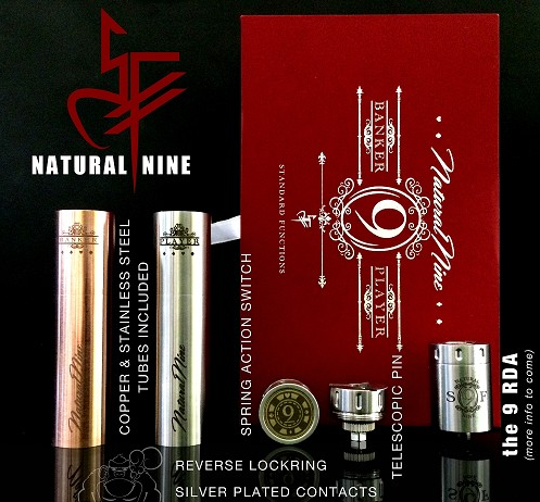 Natural 9 mech mod at Vapor Laze